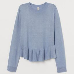 Knit Sweater with Peplum   H&M (US)