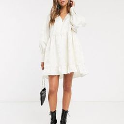 Sister Jane mini smock dress in textured jacquard | ASOS US