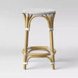 Perry Rattan Backless Woven Counter Stool White - Threshold™   Target