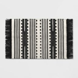 2'X3' Sylviidae Stripe Woven Accent Rug Black - Opalhouse™ | Target