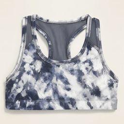 Go-Dry Tie-Dye Mesh-Back Sports Bra for Girls | Old Navy (US)