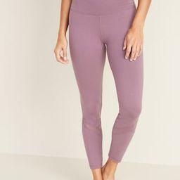 High-Waisted Balance Mesh-Trim 7/8-Length Leggings For Women | Old Navy (US)