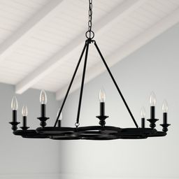 Jae 9-Light Candle Style Geometric Chandelier | Wayfair North America