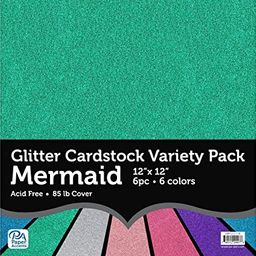 PA Paper Accents ADP1212.1118 Variety Pk 12x12 Glitter, None | Amazon (US)