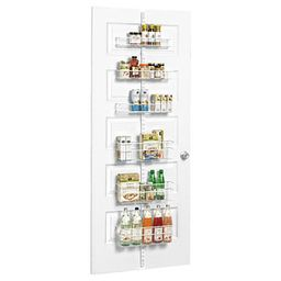 White Elfa Utility Pantry Door & Wall Rack   The Container Store
