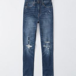 Ripped High Rise Super Skinny Ankle Jeans | Abercrombie & Fitch US & UK