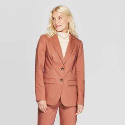 Women's Long Sleeve Button-Front Blazer - A New Day™ Blush | Target