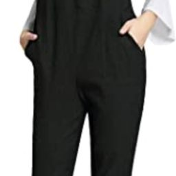 Womens Maternity Overalls Adjustable Back Zip Opening Jumpsuits Casual Pants for Pregnant Women | Amazon (US)
