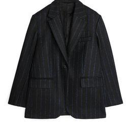 Pinstripe Melton Wool Blazer | ARKET