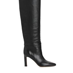 Knee-High Slouch Leather Boots | ARKET