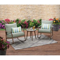 Better Homes & Gardens Roxbury 3 Piece Cushion Rocking Set | Walmart (US)
