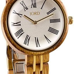 Wooden Wrist Watches for Women - Cassia Series/Wood and Metal Watch Band/Wood Bezel/Analog Quartz... | Amazon (US)