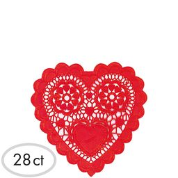 Red Heart Doilies 28ct | Party City