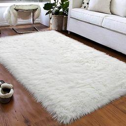 Softlife Faux Fur Sheepskin Area Rug Shaggy Wool Carpet for Bedroom Girls Living Room Home Decor ... | Amazon (US)