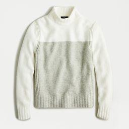 Colorblock mockneck sweater in supersoft yarn | J.Crew Canada