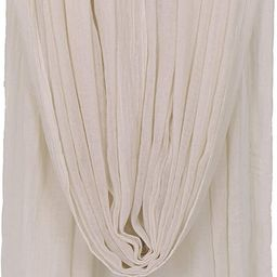 Women Solid Color Scarfs Large Long Lightweight Fringed Headscarf Linen Sheer Shawl Wrap | Amazon (US)