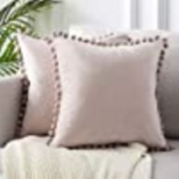 Top Finel Decorative Throw Pillow Covers for Couch Bed Soft Particles Velvet Solid Cushion Covers...   Amazon (US)