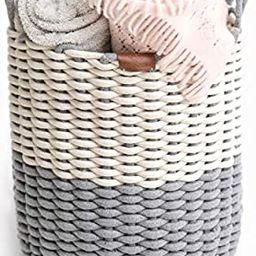 Northern Rey Cotton Rope Basket - XL Handmade Basket with Handle – Woven Basket for Kids Toys, ...   Amazon (US)