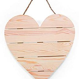 DIY Wood Heart Plank Sign with Jute Cord for Hanging-Kids Crafts-Summer Activities-Home Decor (1 ...   Amazon (US)