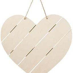 Bulk Buy  Darice DIY Crafts Wood Pallet Decor Large Heart With Jute x 3 Pieces, Natural, 11.75 x ...   Amazon (US)