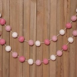 Pink and White Garland - Valentines Day Decor, Valentine's Garland, Valentines Day Banner, Valent...   Etsy (US)