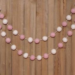Light Pink and White Garland - Girl Nursery Decor, Baby Shower Decorations, Girls Room, Birthday ...   Etsy (US)