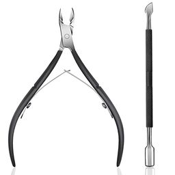 Cuticle Trimmer with Cuticle Pusher - Ejiubas Cuticle Remover Cuticle Nipper Professional Stainle... | Amazon (US)