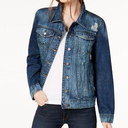 Cotton Boyfriend Denim Jacket | Macys (US)