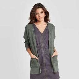 Women's Long Sleeve Open Layering Cardigan - Universal Thread™ Green | Target