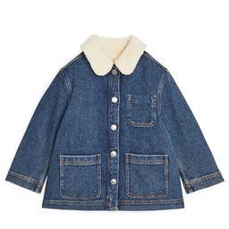 Pile-Lined Denim Jacket   ARKET