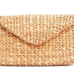 Mini Vintage Handmade Knit Bamboo Rattan Straw Clutch Bag / Handbag | Walmart (US)