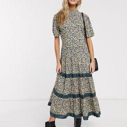 Miss Selfridge midi smock dress in floral print | ASOS US
