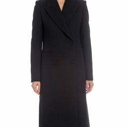 Avec Les Filles Long Double-Breasted Wool Top Coat | Neiman Marcus