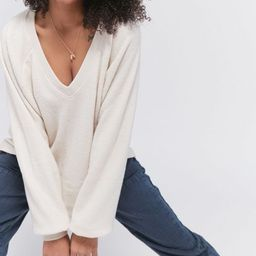 UO Lilith Cozy V-Neck Top | Urban Outfitters (US and RoW)