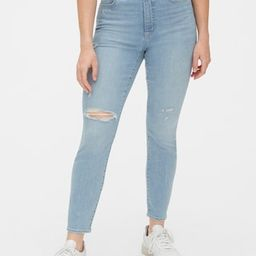 High Rise Curvy Distressed True Skinny Ankle Jeans with Secret Smoothing Pockets | Gap (US)