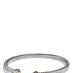 Cable Classics Bracelet with 18K Gold, 4mm   Nordstrom
