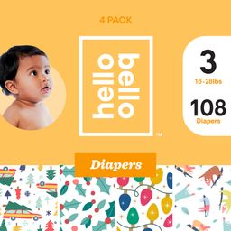Hello Bello Diaper Variety Pack - Evergreen Dreams, Holly Jollies, Twinkle Tushies, & Snowy Sloth...   Walmart (US)