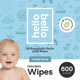 Hello Bello Baby Wipes, Unscented, 600 Count | Walmart (US)