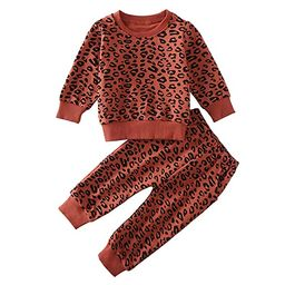 Toddler Baby Girls Leopard Print Summer Clothes Set T-Shirt and Short Pants 2pcs Outfits | Amazon (US)