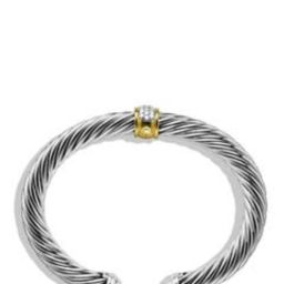 Cable Classics Bracelet with Diamonds & 18K Gold, 7mm   Nordstrom