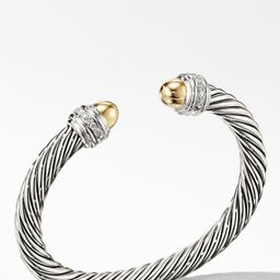 Cable Classics Bracelet with Semiprecious Stones & Diamonds, 7mm   Nordstrom