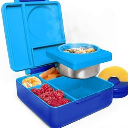 OmieBox Bento Box for Kids - Insulated Bento Lunch Box with Leak Proof Thermos Food Jar - 3 Compa... | Amazon (US)