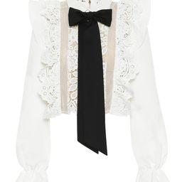 Lace-trimmed blouse | Mytheresa (UK)