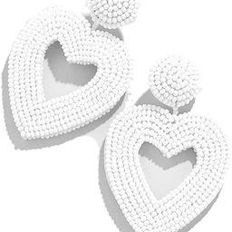 Statement Drop Earrings - Bohemian Beaded Round Dangle Earrings Gift for Women   Amazon (US)