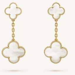 Magic Alhambra gold and mother-of-pearl earrings | Selfridges