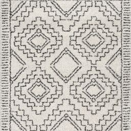 Off White Tribal Moroccan Tassel 9' x 12' Area Rug | Rugs USA