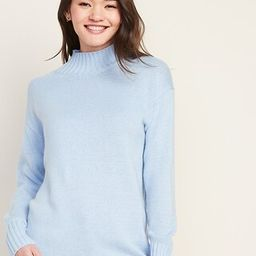 Slouchy Mock-Neck Tunic Sweater for Women   Old Navy (US)