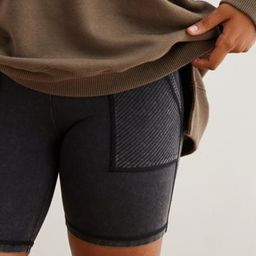 Aerie Chill Ribbed Pocket Bike Short | American Eagle Outfitters (US & CA)
