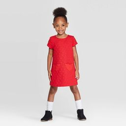 Toddler Girls' Heart Dress - Cat & Jack™ Red | Target