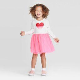Toddler Girls' Heart Tulle Dress & Skirt Set - Cat & Jack™ Cream/Pink | Target